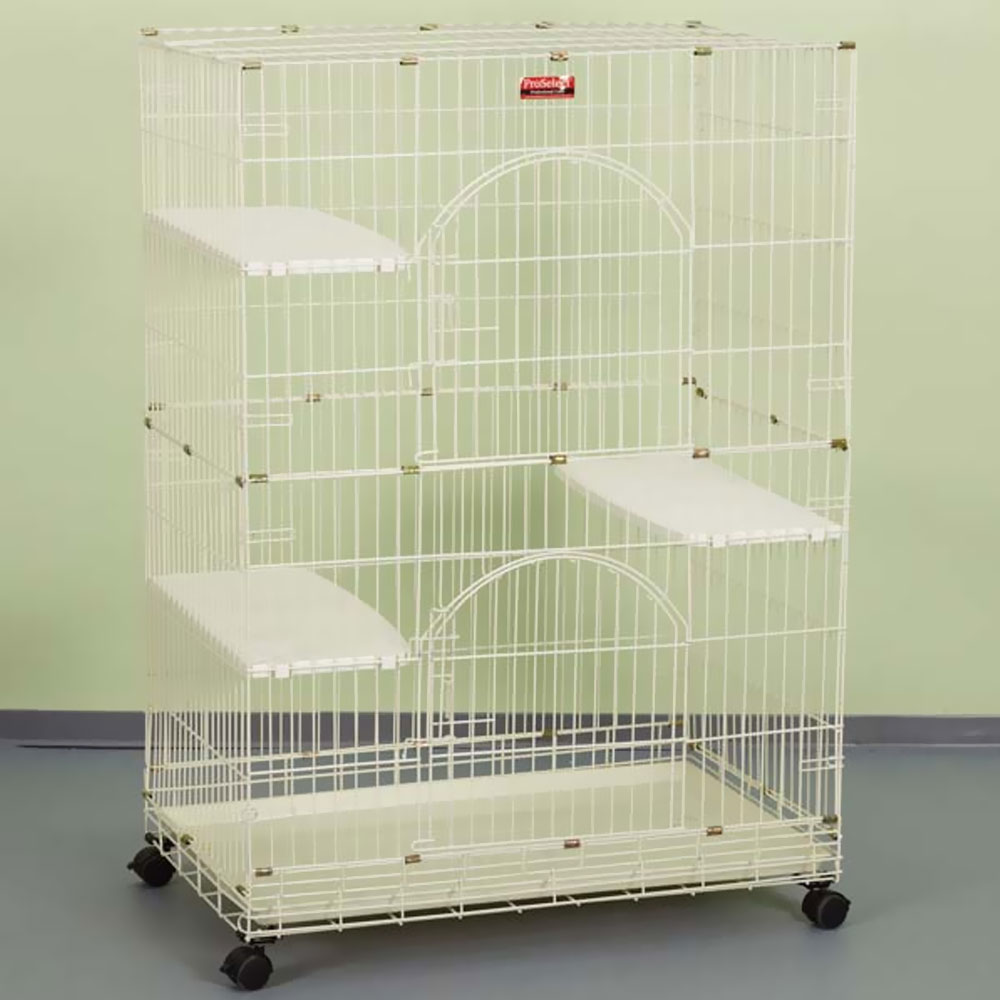 ProSelect Foldable Cat Cage 35.5Lx24Wx48 - White