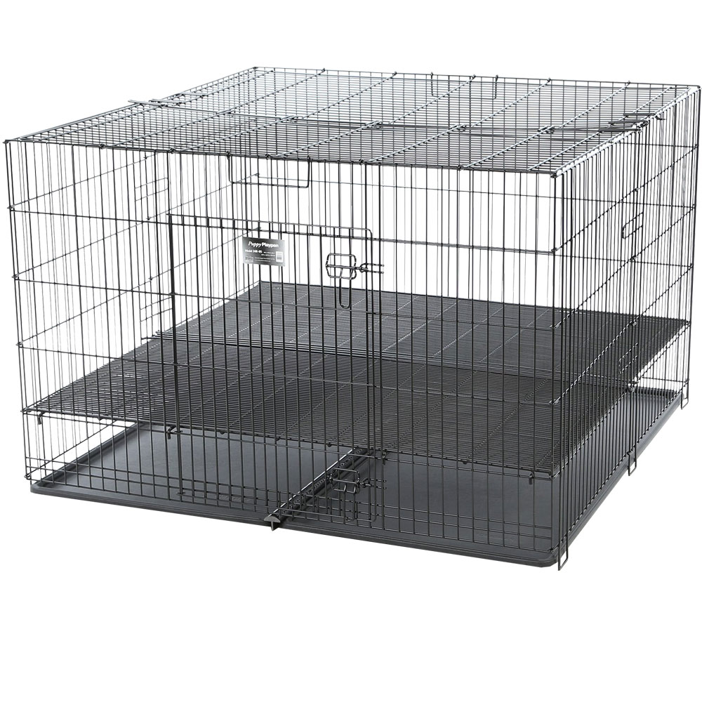 ProSelect Puppy Playpen with Plastic Pan Large - Black