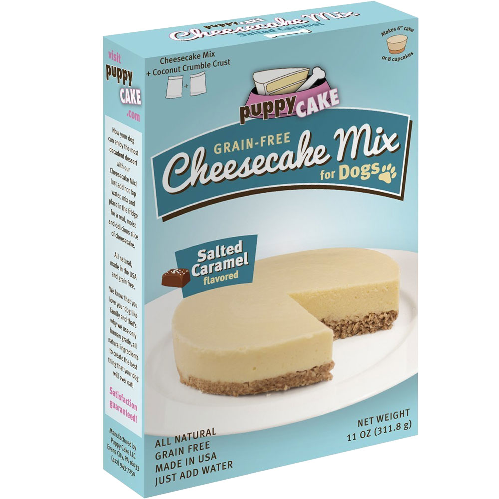 Puppy Cake Cheesecake Mix for Dogs - Salted Caramel (11 oz)