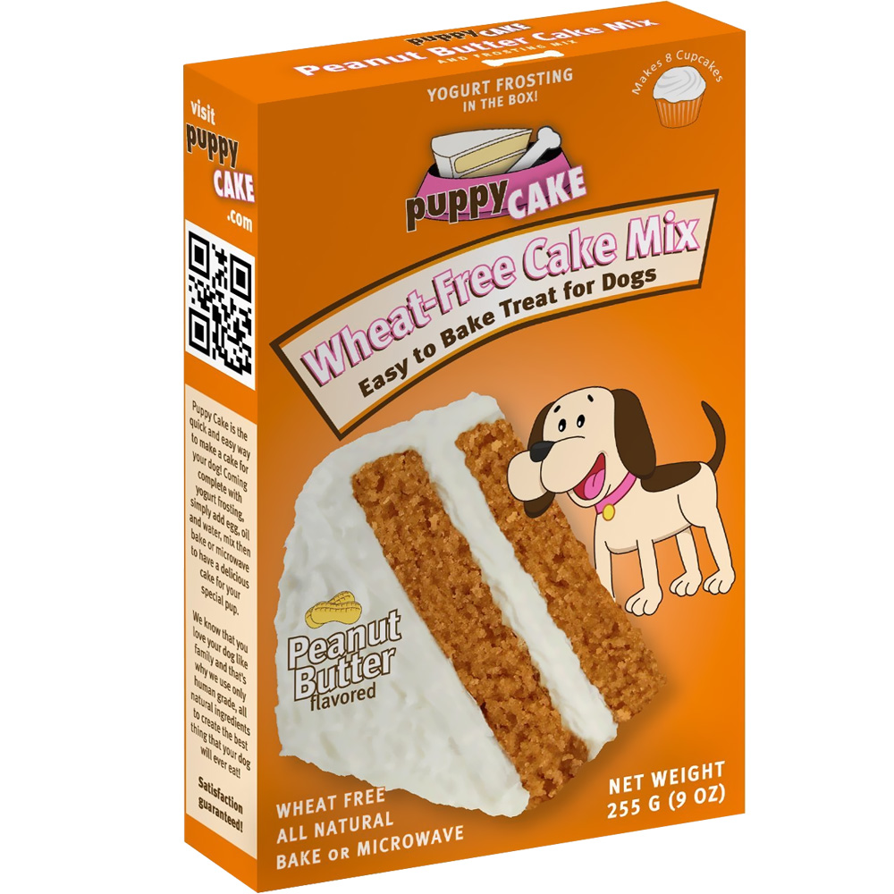 Puppy Cake - Peanut Butter Flavored Cake Mix