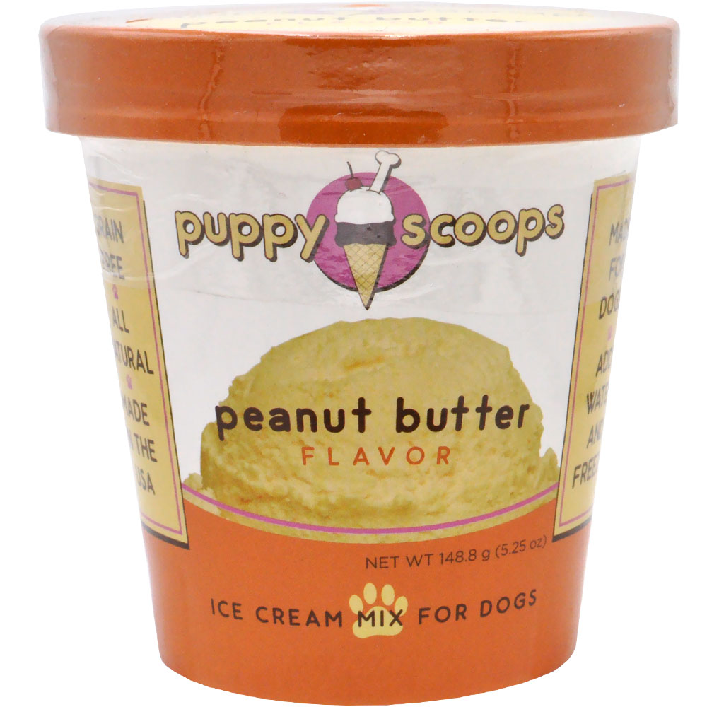 Puppy Scoops Ice Cream Mix for Dogs - Peanut Butter Flavor (5.25 oz)