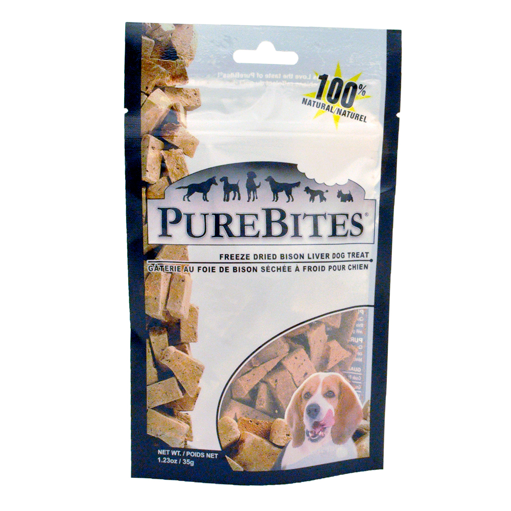 Purebites Bison Liver Dog Treat (1.23 oz)