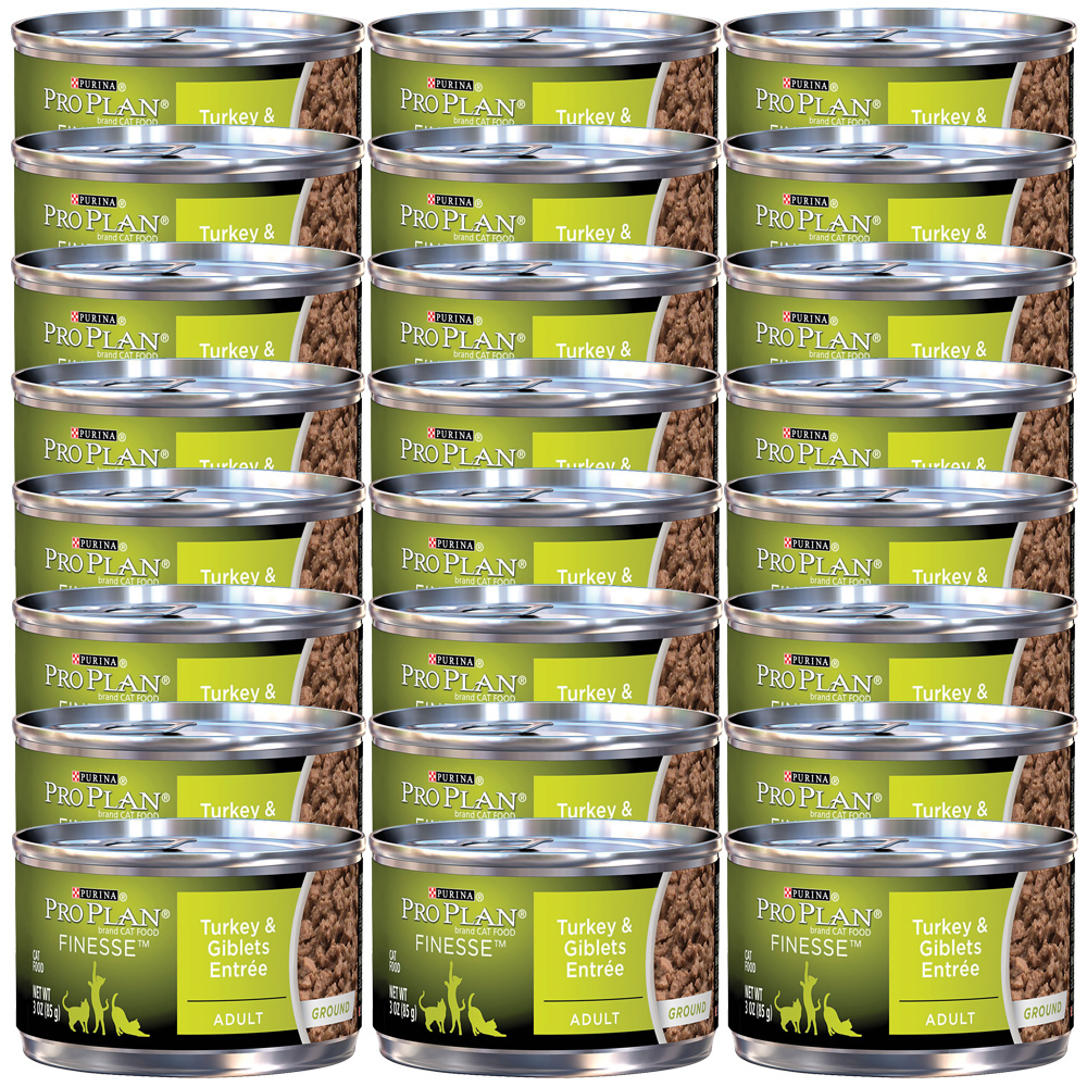 Purina Pro Plan Finesse - Turkey & Giblet Entrée Canned Adult Cat Food (24x3oz)