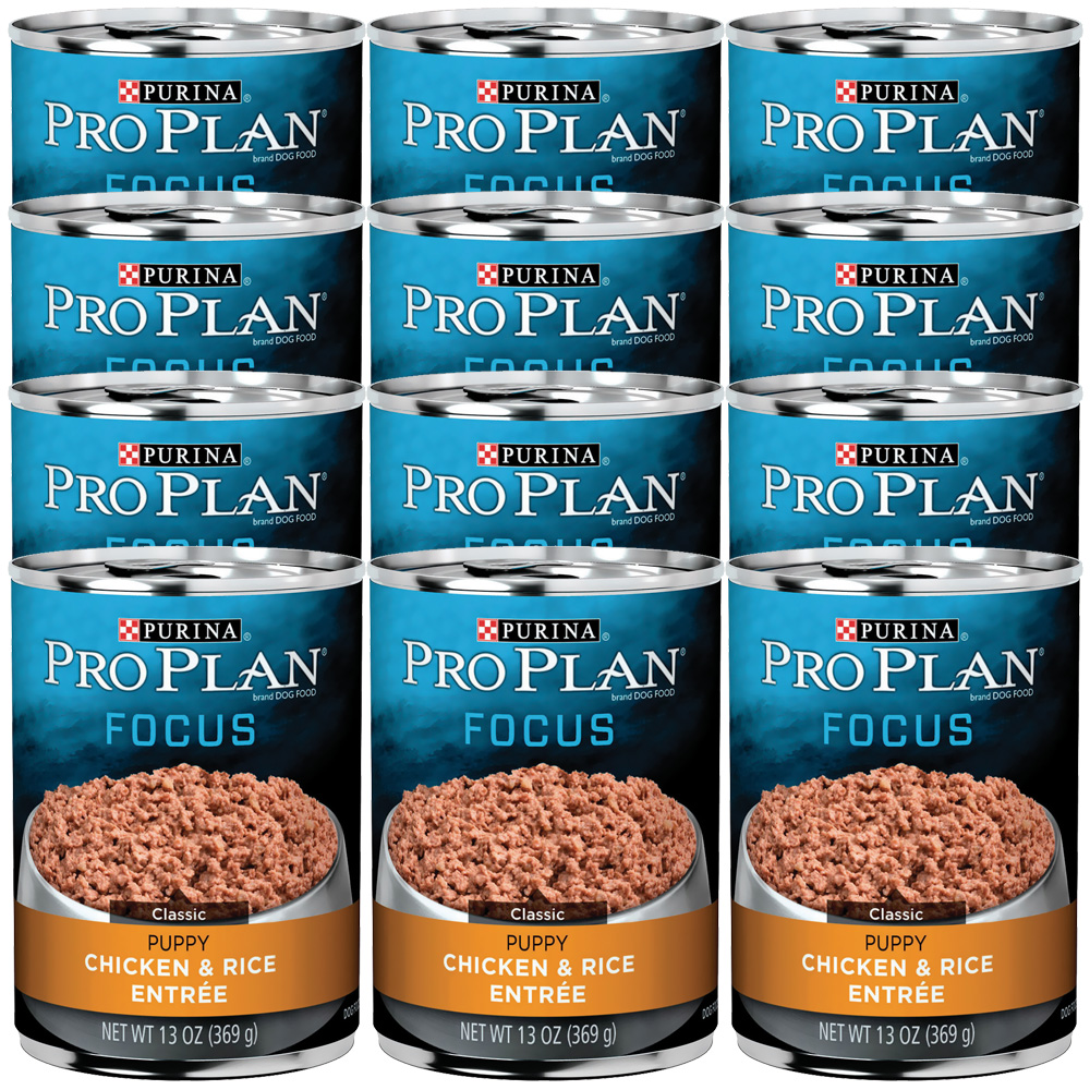 Purina Pro Plan Focus - Chicken & Rice Entrée Canned Puppy Food (12x13oz)