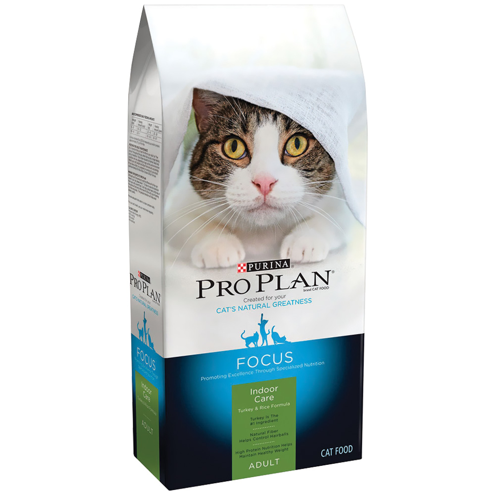 Purina Pro Plan Focus - Indoor Care Turkey & Rice Dry Adult 11+ Cat Food (7 lb)