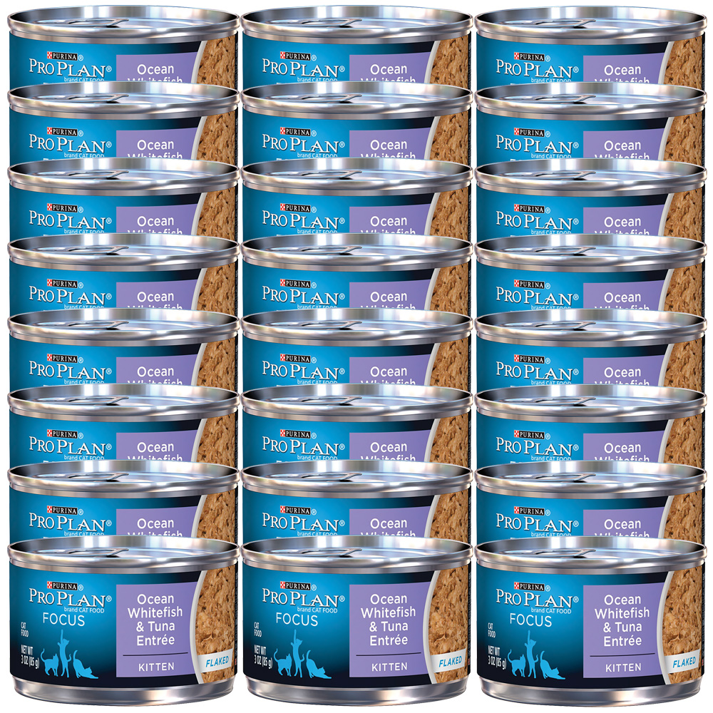 Purina Pro Plan Focus - Ocean Whitefish & Tuna Entrée Canned Kitten Food (24x3oz)