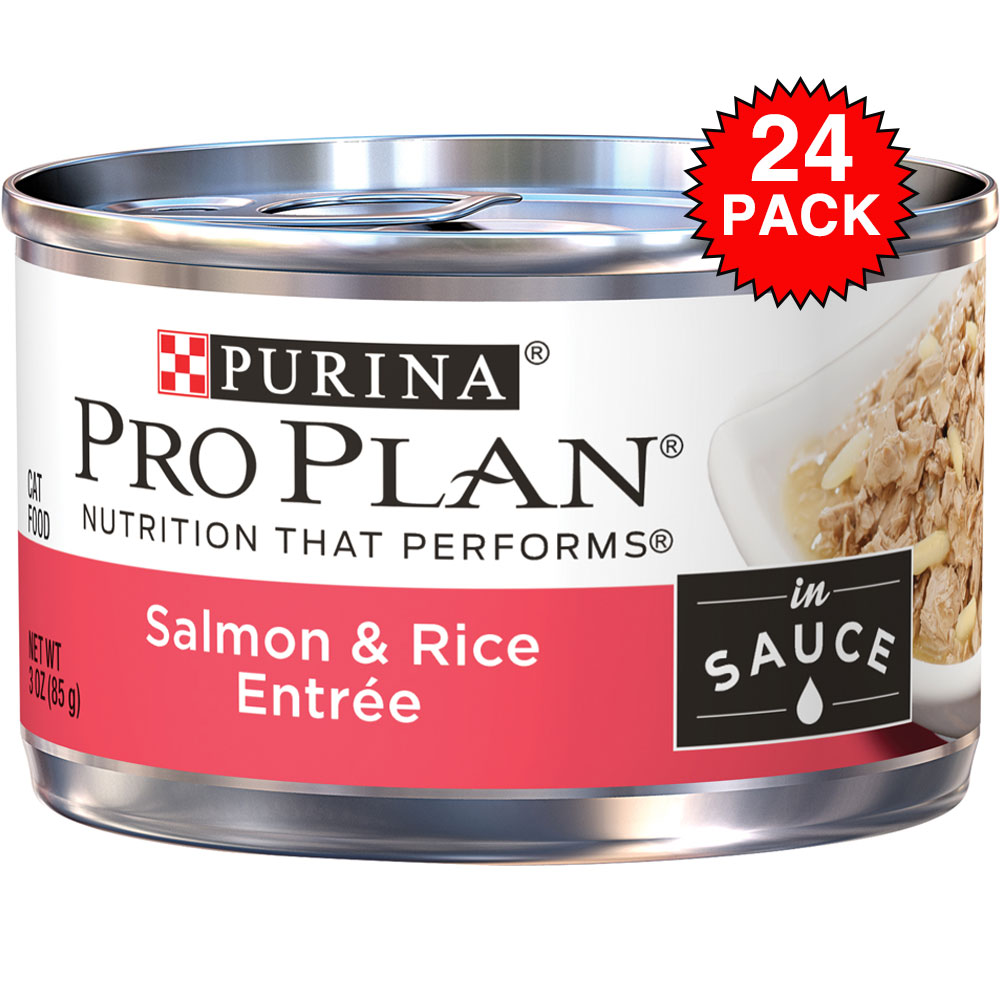 Purina Pro Plan Savor - Salmon & Rice Entrée Canned Adult Cat Food (24x3oz)