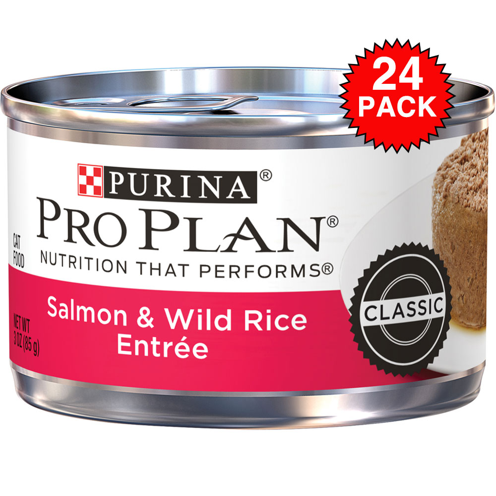 Purina Pro Plan Savor - Salmon & Wild Rice Entrée Canned Adult Cat Food (24x3oz)