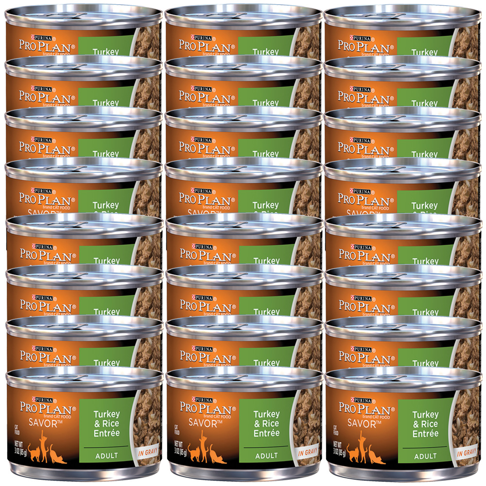 Purina Pro Plan Savor - Turkey & Rice Entrée Canned Adult Cat Food (24x3oz)