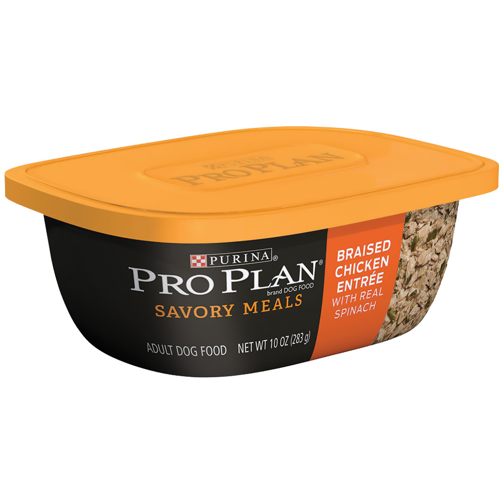 Purina Pro Plan Savory Meals - Braised Chicken Entrée Adult Dog Food (10 oz)