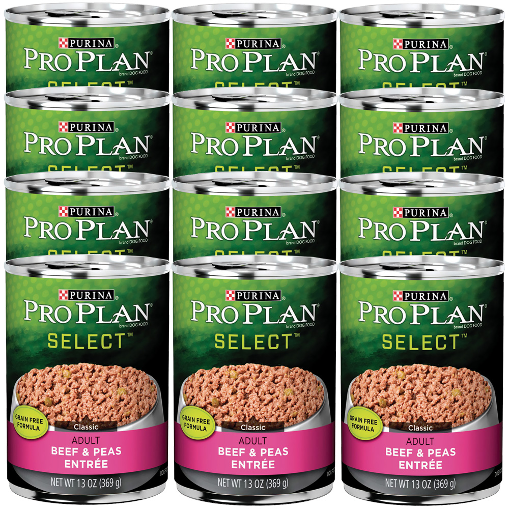 Purina Pro Plan Select - Beef & Peas Entrée Canned Adult Dog Food (12x13oz)