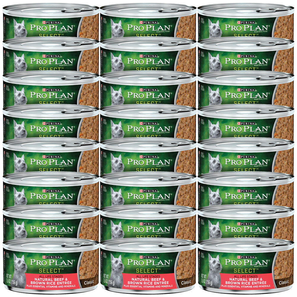 Purina Pro Plan Select - Natural Beef & Brown Rice Entrée Canned Dog Food (24x5.5oz)