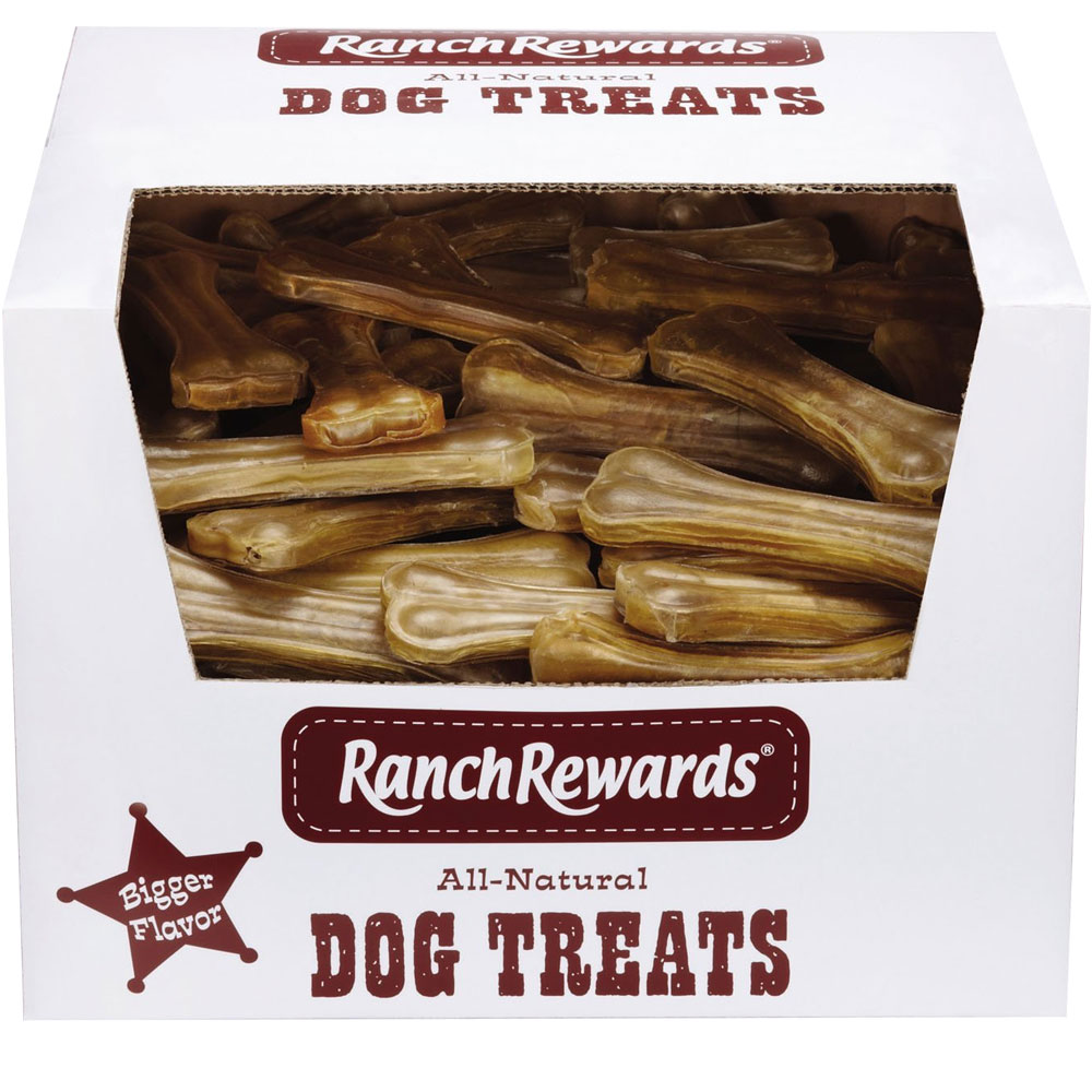 Ranch Rewards Premium Pressed Rawhide Bones - Chicken Bulk 6In (90 pack)