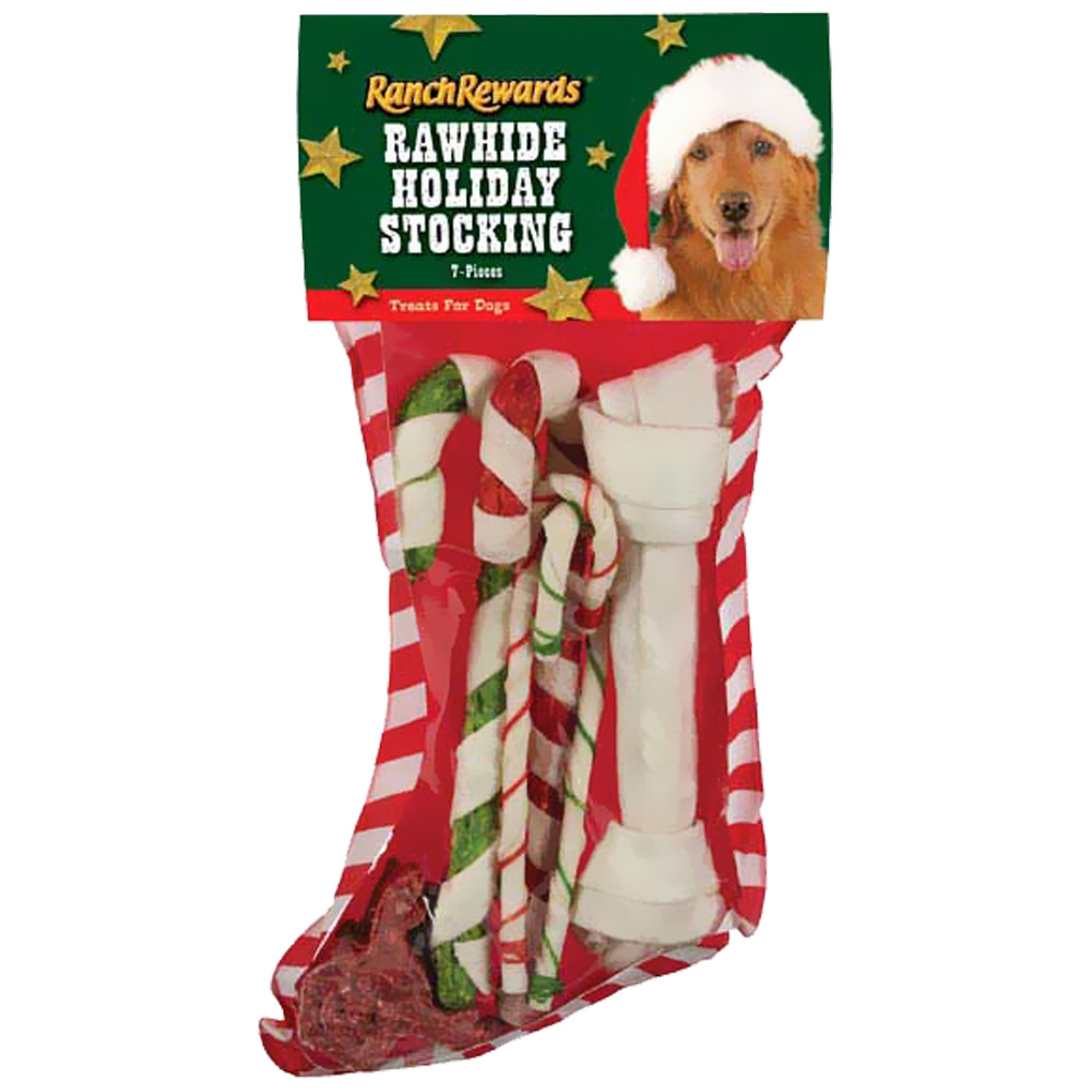 Ranch Rewards Rawhide Holiday Stocking - Large (7 Pieces)