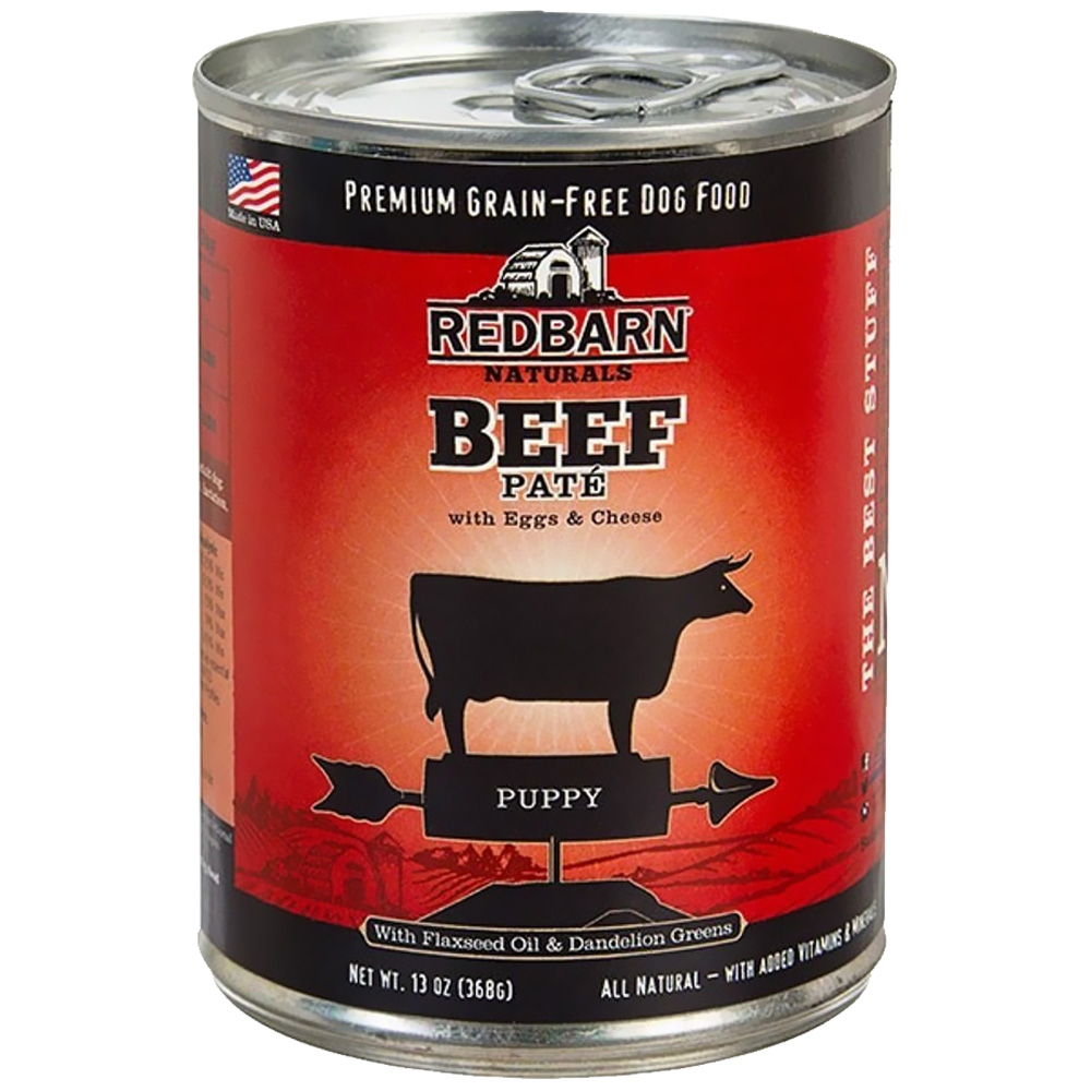 Redbarn Pate Puppy Dog Food - Beef (13 oz)