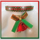 Rhinestone Dog Collars - Christmas Bells & Red Velvet (Medium)