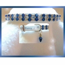 Rhinestone Dog Collars - Merry In Blue (Small)