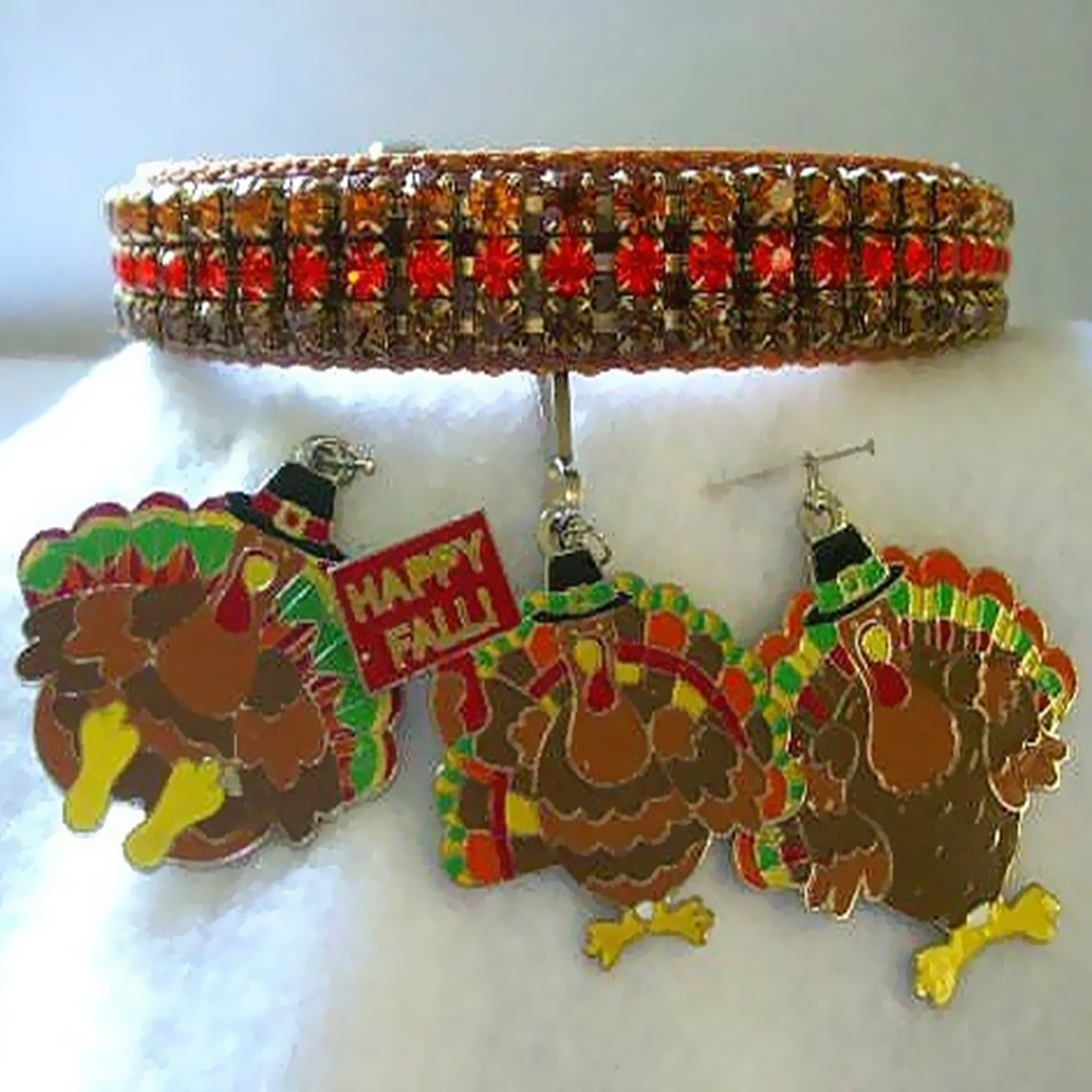 Rhinestone Dog Collars - Turkey Collar
