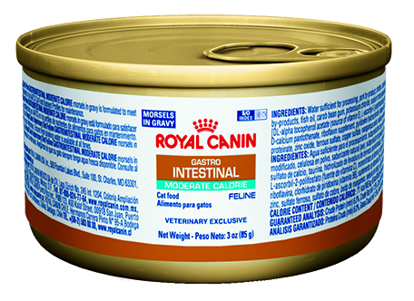 ROYAL CANIN Feline GastrointestinaI Moderate Calorie Morsels In Gravy Can (24/3 oz)