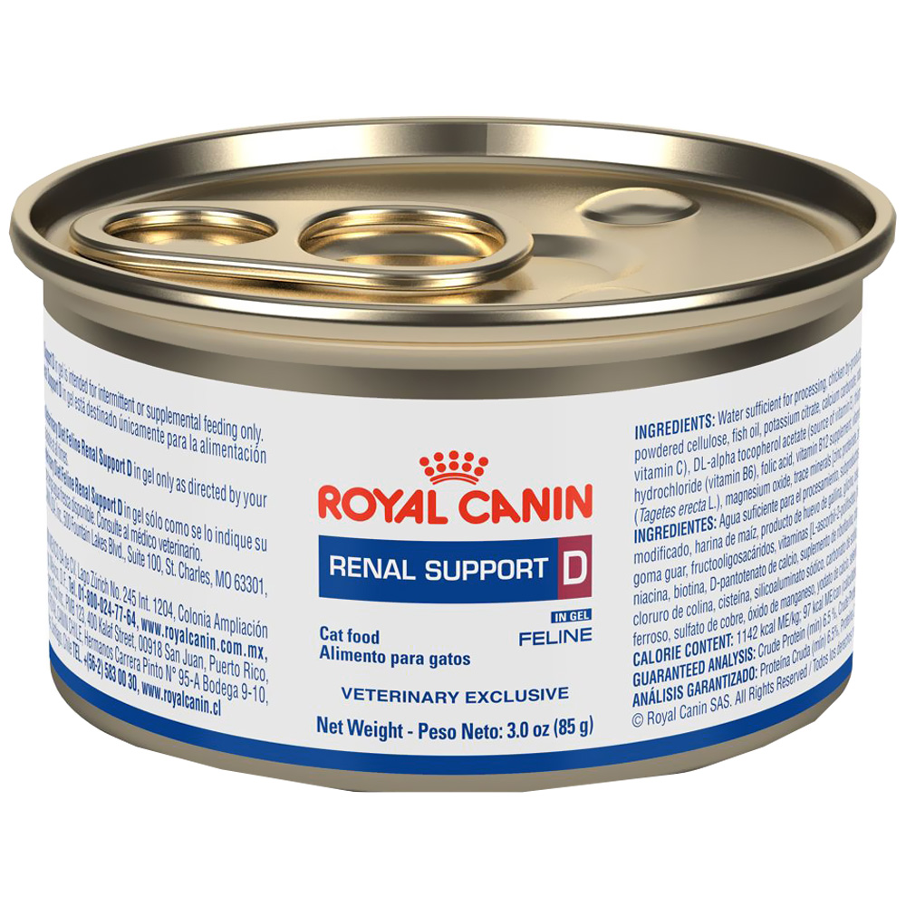 royal canin feline renal support d wet morsels in gravy can 24 3 oz entirelypets. Black Bedroom Furniture Sets. Home Design Ideas