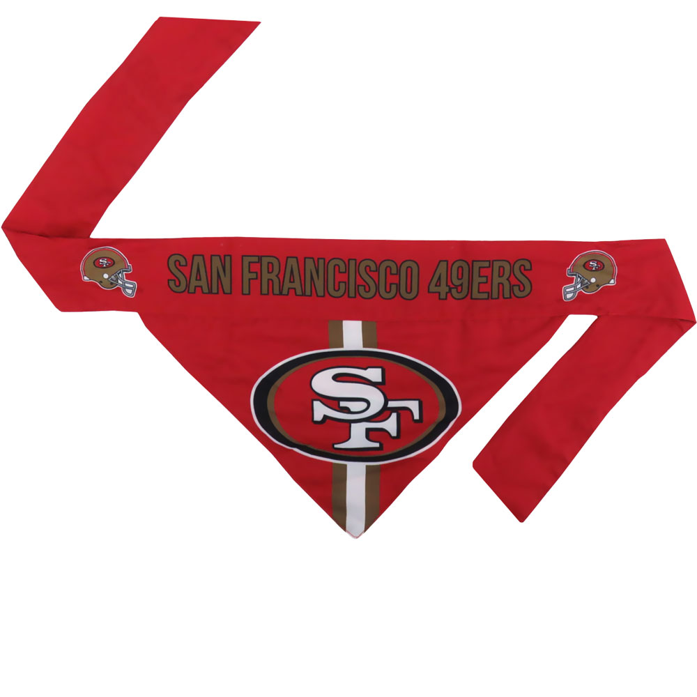 San Francisco 49ers Dog Bandana - Tie On (Small)