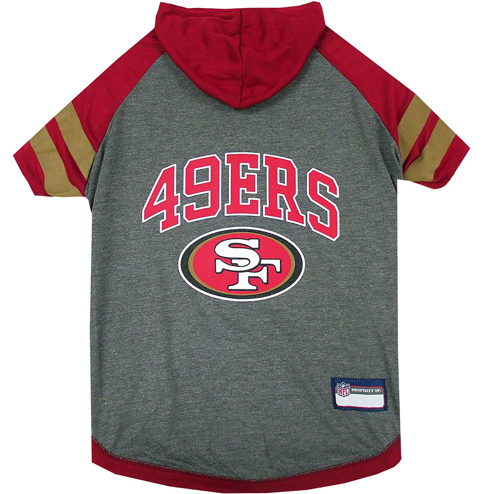 San Francisco 49Ers Hoody Dog Tee Shirt - XSmall