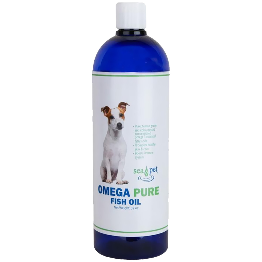 Sea pet omega pure fish oil 32 oz for Dog food with fish oil
