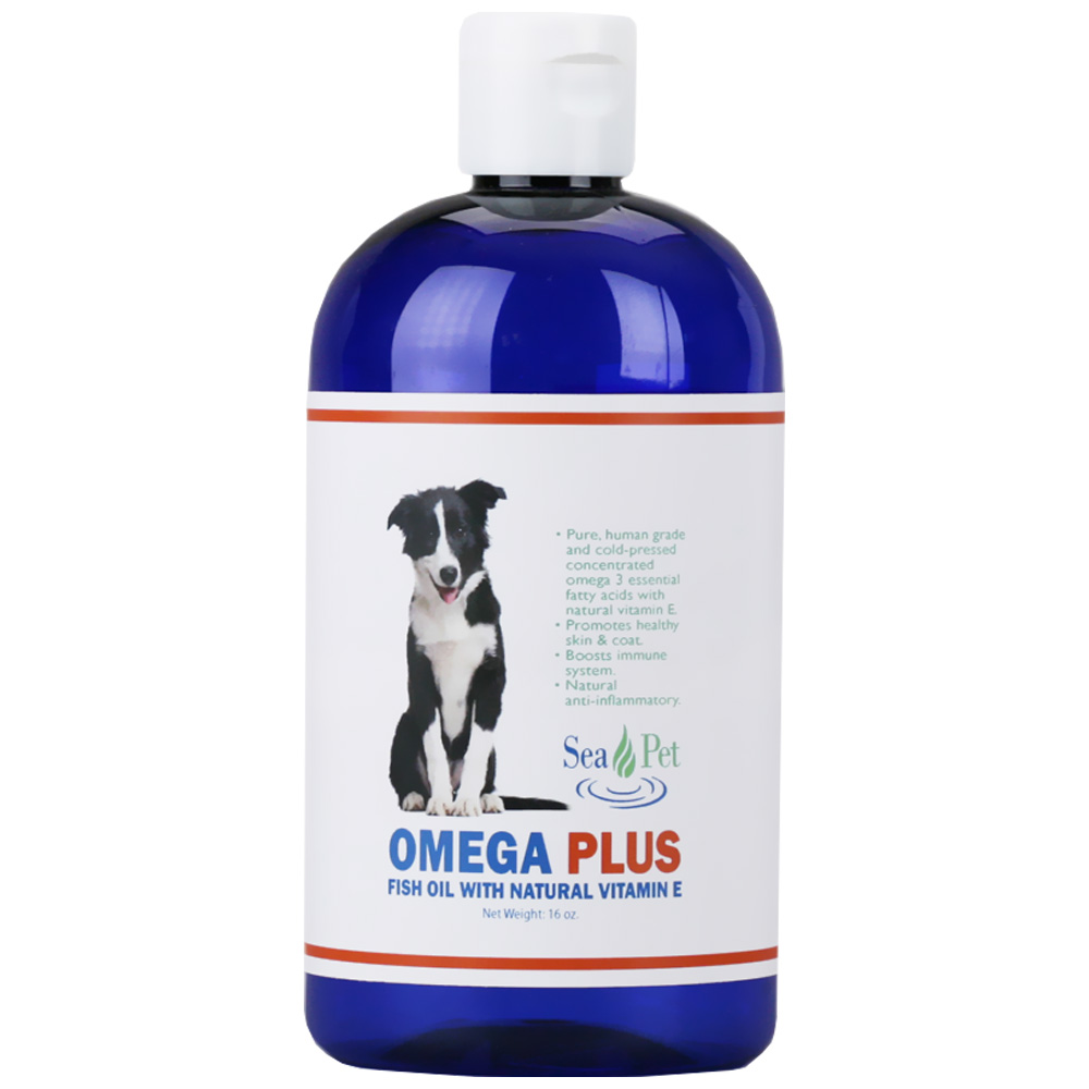 Sea Pet Omega Plus Fish Oil with Natural Vitamin E (16 oz)