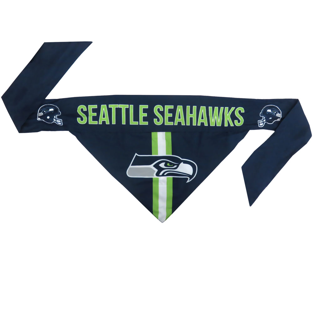 Seattle Seahawks Dog Bandana - Tie On (Large)