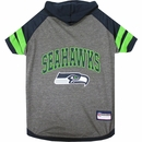 Seattle Seahawks Dog Hoody Tee Shirt - Large