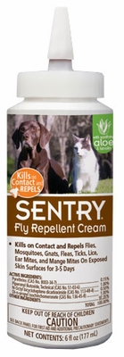 Sentry Fly Repellent Cream for Dogs, Cats, & Horses (6 oz)