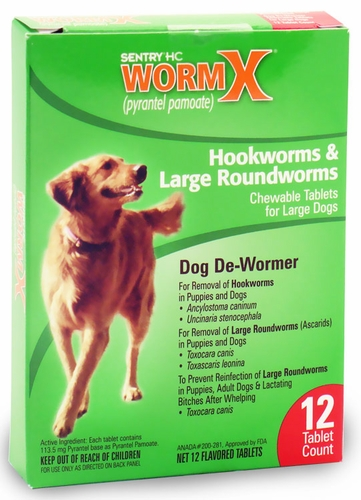 Sentry HC WormX Large Dogs (12 chewable tablets)