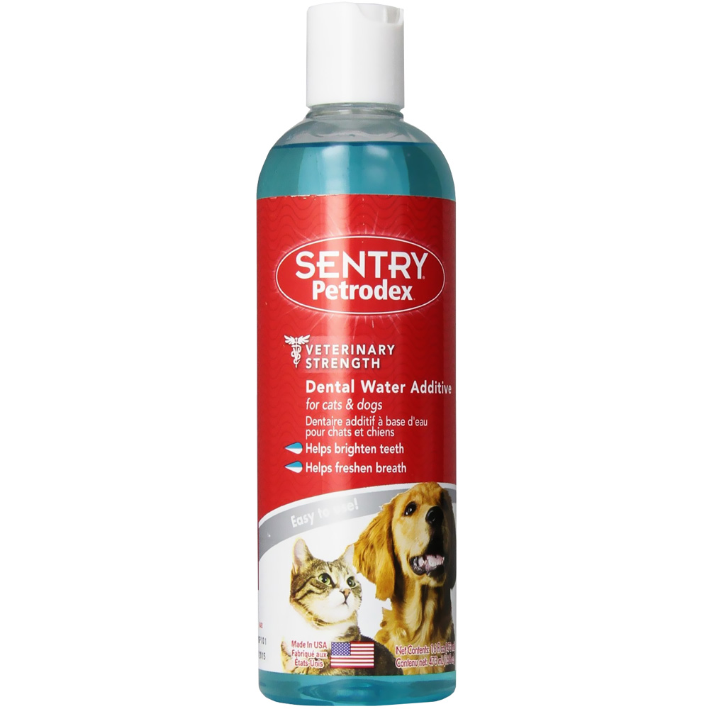 Sentry petrodex dental water additive 16 oz for Dog dental water additive
