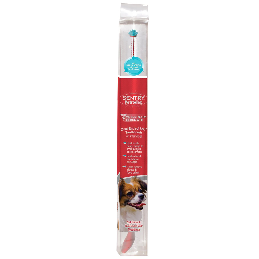 SENTRY Petrodex Dual-Ended 360 Toothbrush for Small Dogs