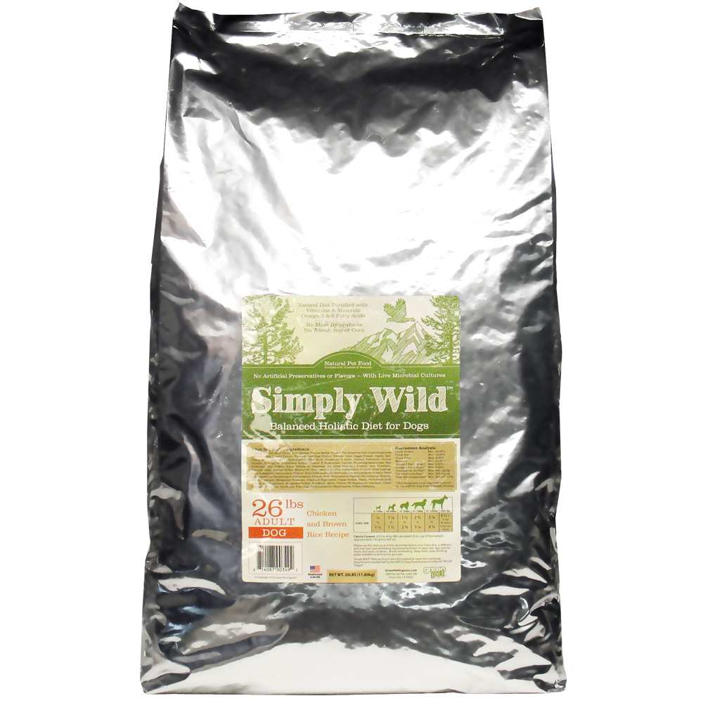 Simply Wild Chicken & Brown Rice Dog Food (26 lbs)