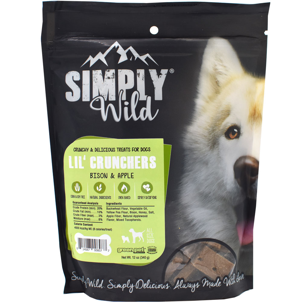 Simply Wild Lil' Crunchers - Bison & Apple (12 oz)