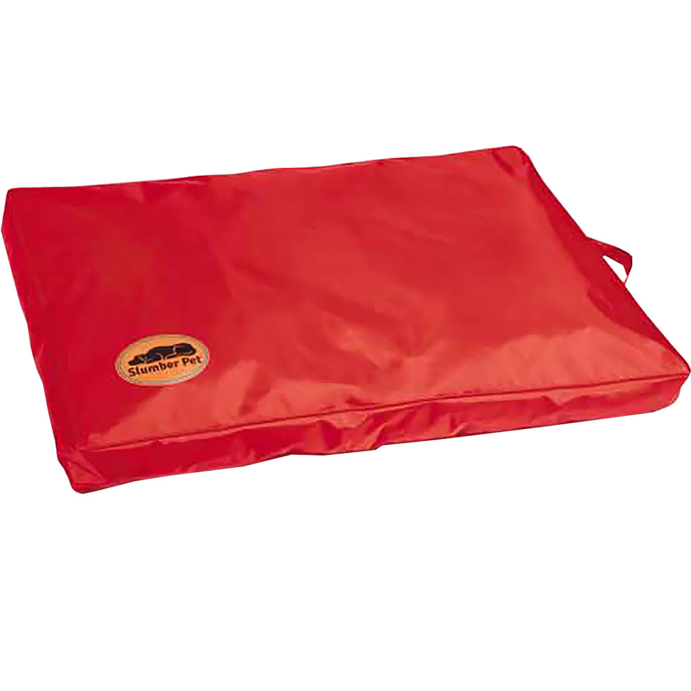 Slumber Pet Toughstructable Bed - Red (36x23In)