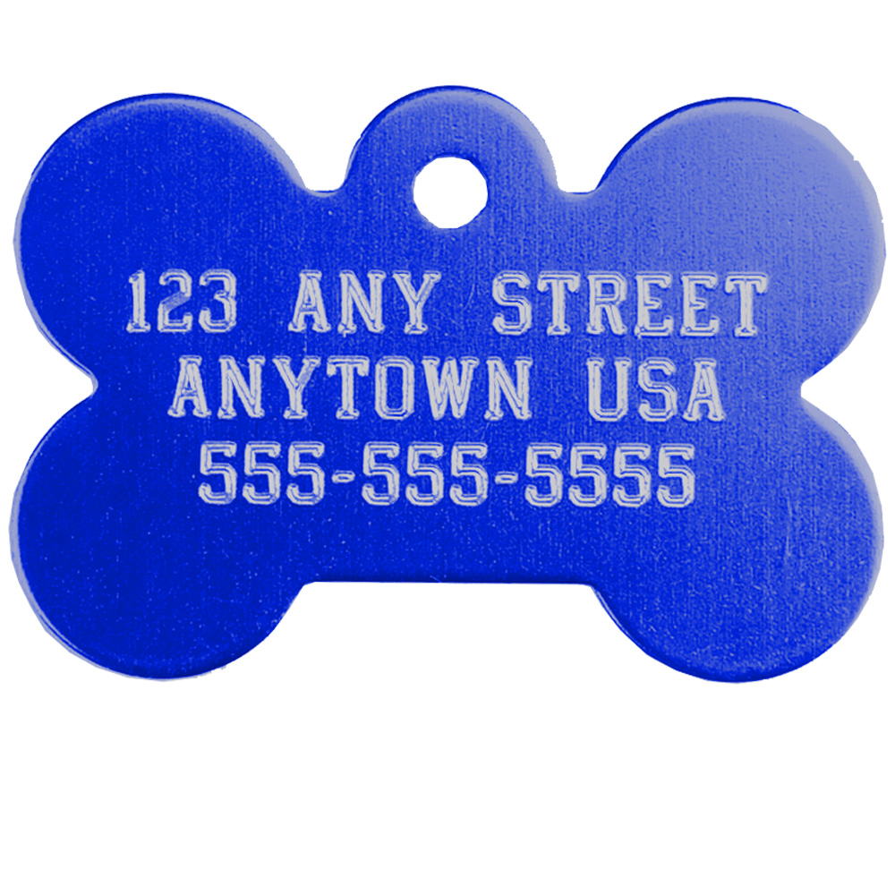 Small Bone Pet ID Tag