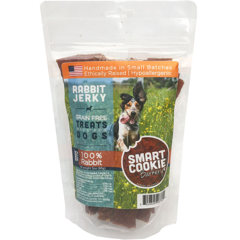 Smart Cookie Bakery Rabbit Jerky Strips (3 oz)