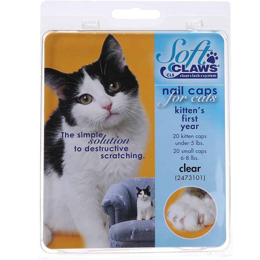 Soft Claws Nail Caps for Cats 40 Count Pack - Clear (Kitten)