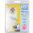 Soft Claws Nail Caps for Cats 40 Count Pack - Pink (Medium)