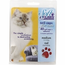 Soft Claws Nail Caps for Cats 40 Count Pack - Red (Medium)