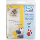 Soft Claws Nail Caps for Cats 40 Count Pack - Red (Small)