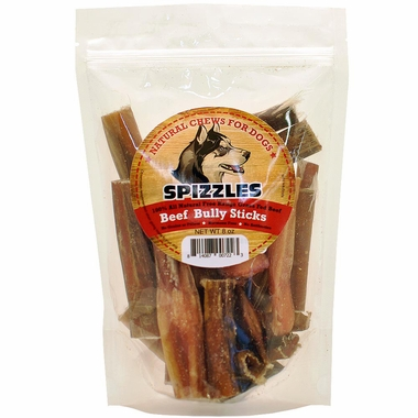 spizzles beef bully sticks 8 oz entirelypets. Black Bedroom Furniture Sets. Home Design Ideas