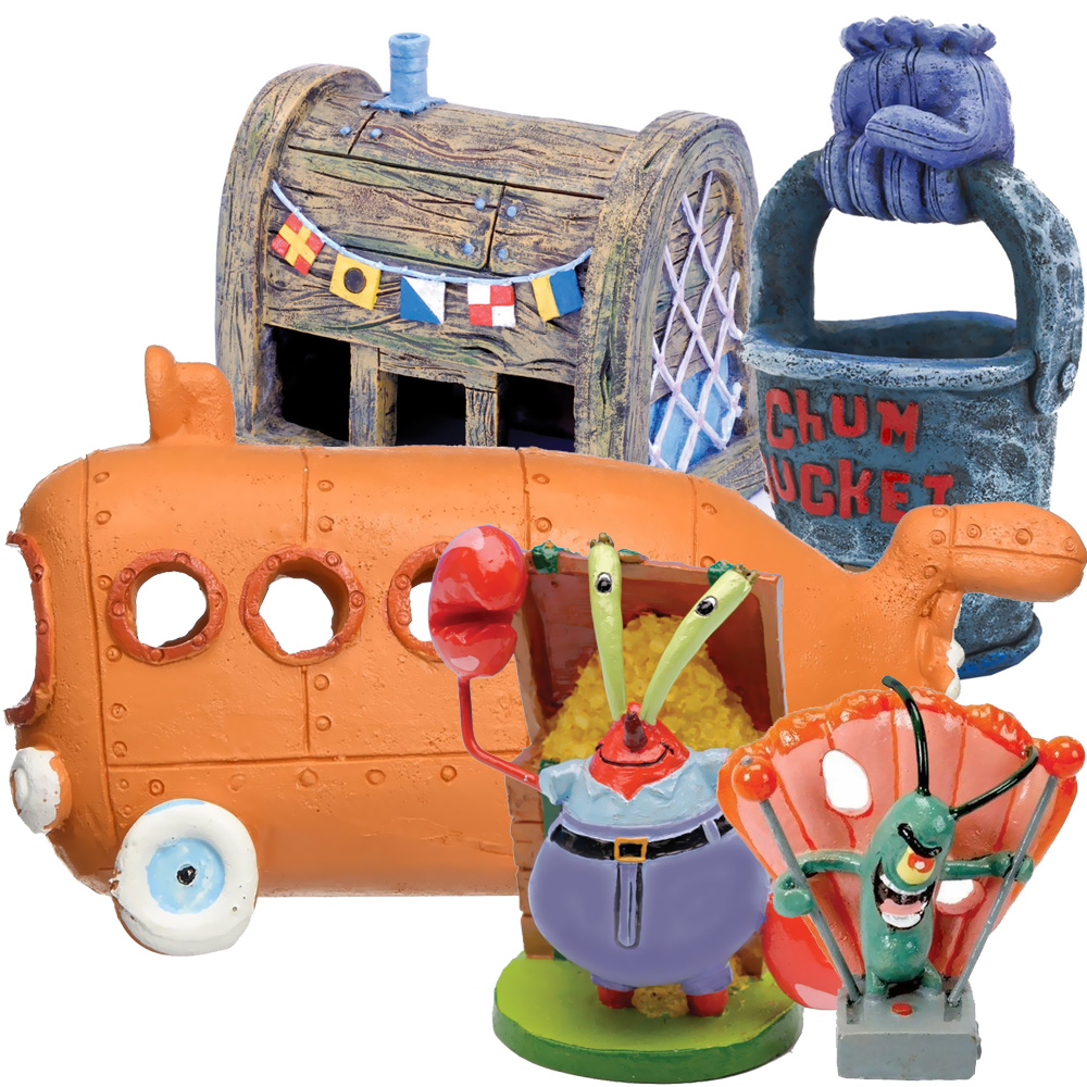 Spongebob Bikini Bottom Aquarium Ornament Set