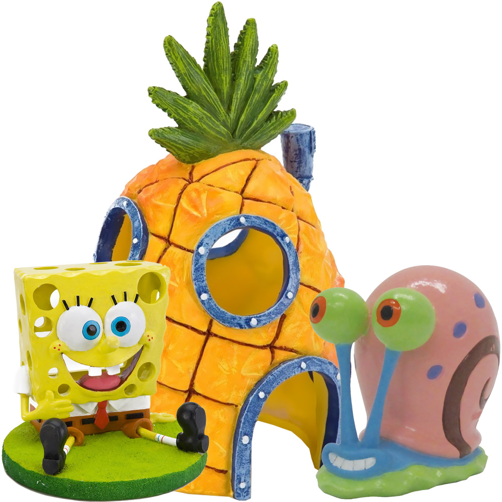 Spongebob & Home Aquarium Ornament Set