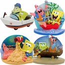 Spongebob & Patrick Doing Things Aquarium Ornament Set