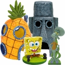 Spongebob & Squidward Home Aquarium Ornament Set