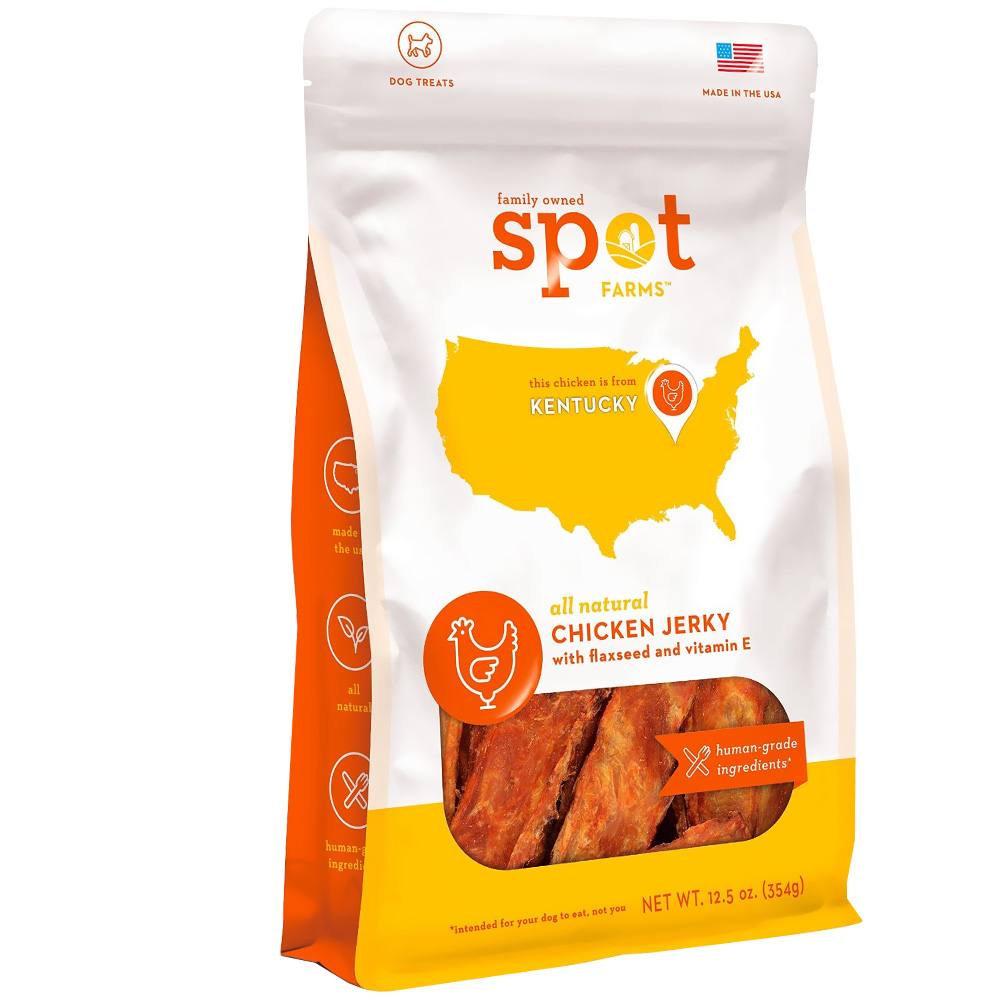 Spot Farms Chicken Jerky - Human Grade Flaxseed + Vitamin E (12.5 oz)