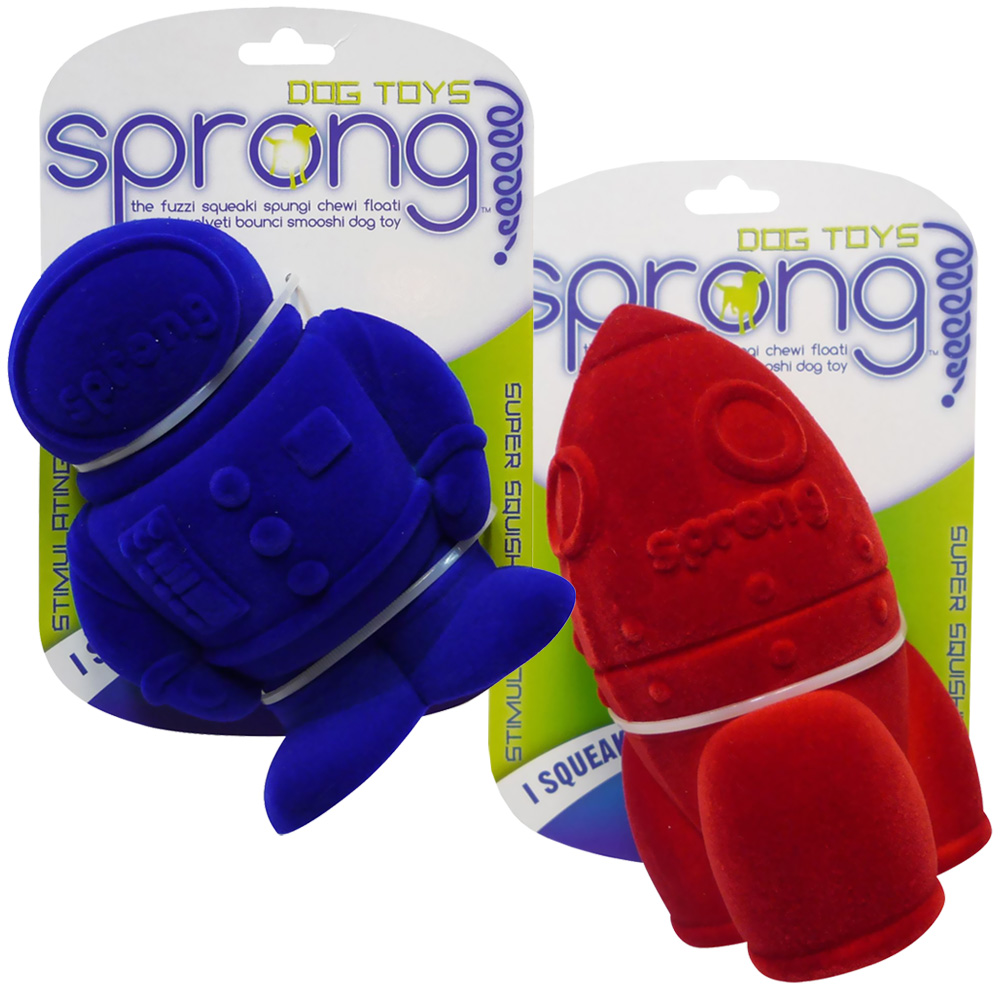 Sprong Astronaut & Rocket Dog Toys